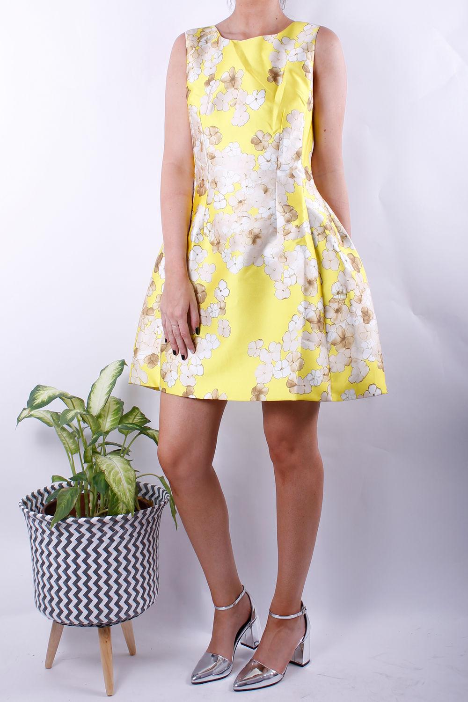 blossom print dress yellow