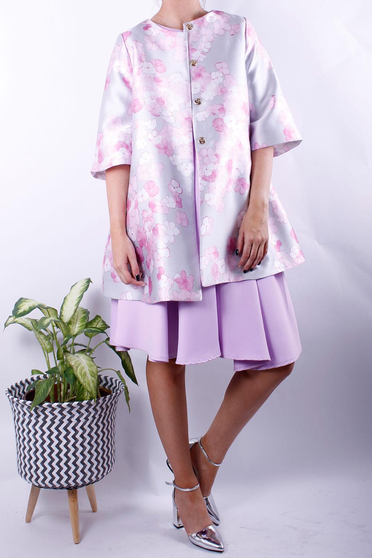 blossom print jacket sliver