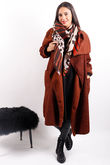 Boucle Blanket Coat Rust * PRE ORDER DUE 29/10/19