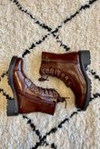 Classic Lace Up Boot Chestnut