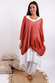 Oversized Box Knit Burnt Sienna