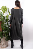 Ribby Cocoon Dress Slate