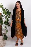Sahara Leopard Parachute Dress Orange