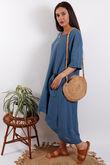 Santorini Two Pocket Dress Denim