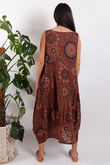 Savannah Printed Sac Dress Summer Tan