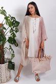 Silk Road Ombre Dress Dusky Pink