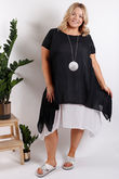 St Kitts Two Layer Dress Black