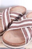 Stripe Hessian Slider Bronze