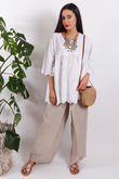 The Brodie Smock Top White