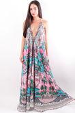 The Lopez Maxi Italian Garden Pink & Turquoise
