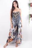 The Lopez Tie Front Dress Feather Leopard