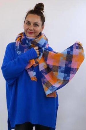 The Big Softie Cubist Scarf Fire