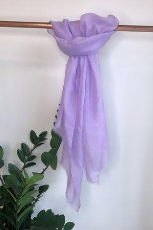 Vintage Wash Raw Edge Scarf Lilac
