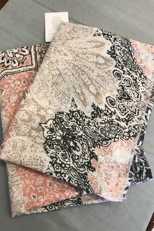 Moroccan Tile Scarf Blush