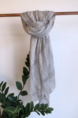 The Picnic Scarf Steel