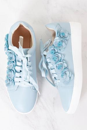 3D Flower Pump Baby Blue