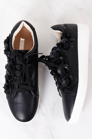3D Flower Pump Black