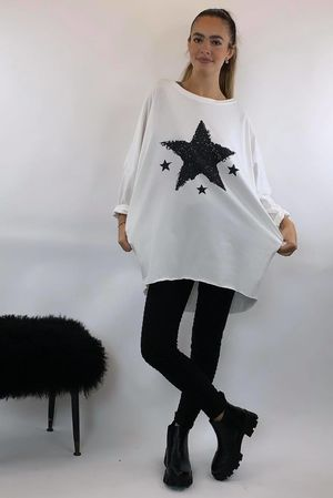 4 Star Popoon Tunic Winter White