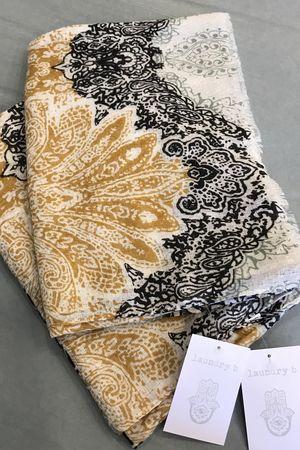 Moroccan Tile Scarf Khaki