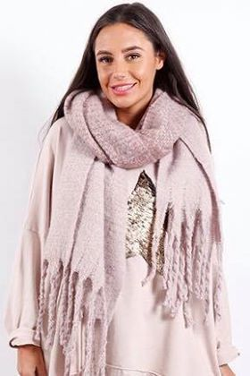 Luxury Super Soft Fringe Scarf Ballet Shoe