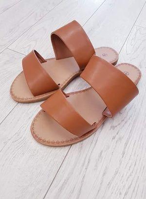 Tan Two Strap Sandals
