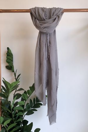 Muslin Raw Edge Scarf Steel