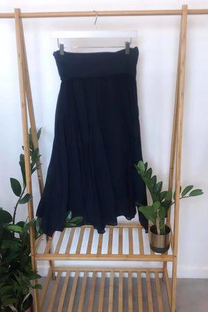 Bandeau Skirt Dress Navy