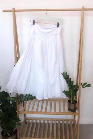 Bandeau Skirt Dress White