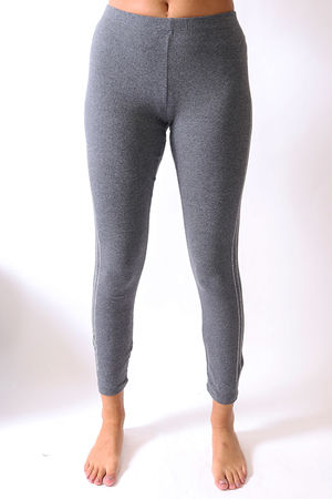 Malissa J Bling Side Legging Marl Grey