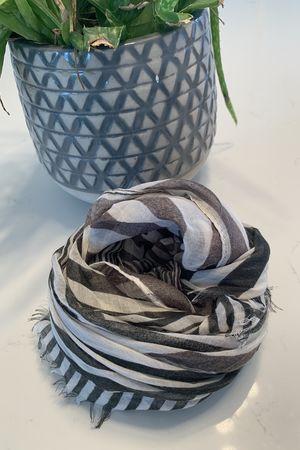 Lightweight Stripe Scarf Khaki