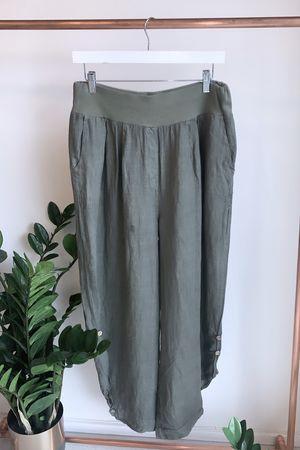 The Plus Parachute Linen Pant Khaki
