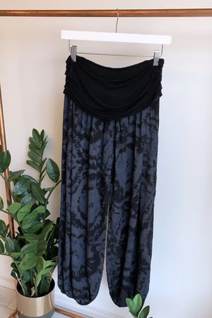 Sahara Moroccan Ink Balloon Pant Black