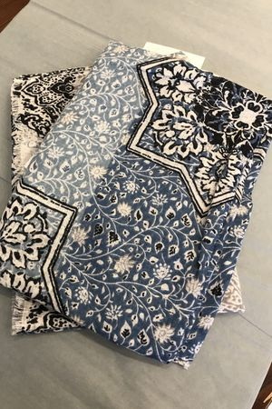 Moroccan Tile Scarf Blues