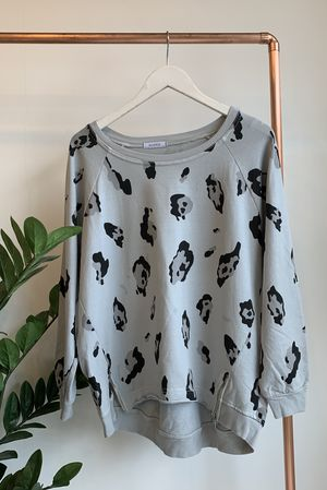 Made In Italy Lounge Leopard Sweat Dove