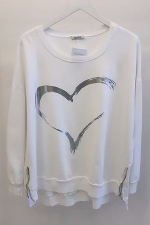 Namaste Love Sweat White Silver