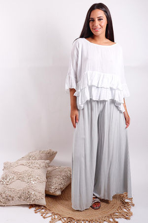 Provence Frill Top White