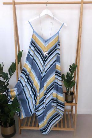 Mixed Stripe Handkerchief Dress Serenity