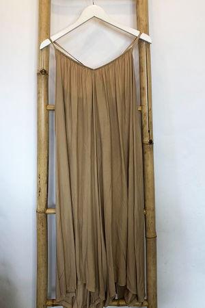 Tie Back Culotte Jumpsuit Caramel