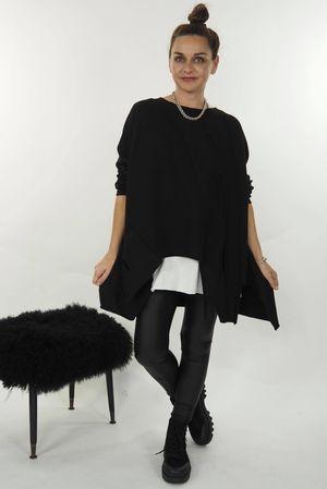 A Hole Lot of Sweatshirt Black