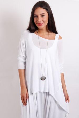A Line Fine Knit White