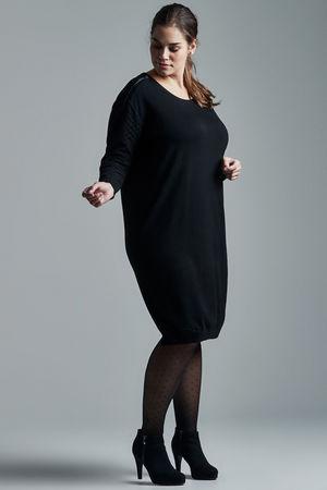 Adia Black Textured Sleeve Pullover