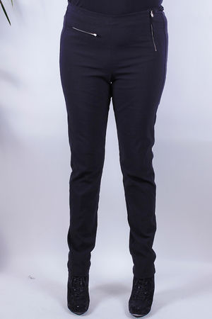 Adia Textured Zip Trousers Black