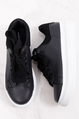 Alexander Flatform Sneaker All Black