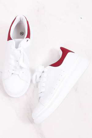 Alexander Flatform Sneaker Burgundy