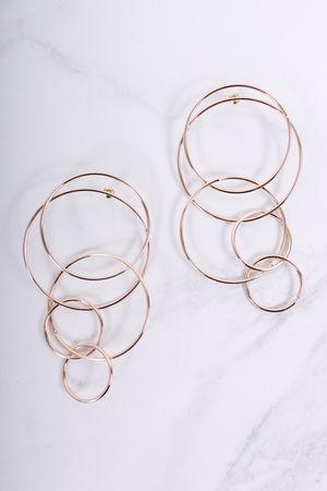 Alienor Entwined Circle Hoop Earrings Gold