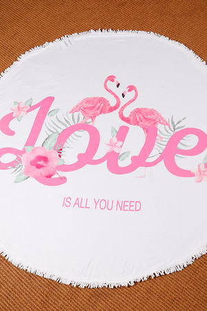 All You Need Is Love Circle Towel