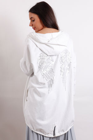 Angel Wing Hoody White