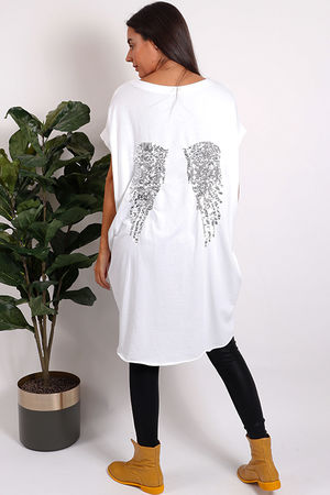 Seven Nations Angel Wing Tunic Top White
