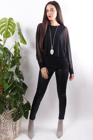 Angela Angel Top Soft Black