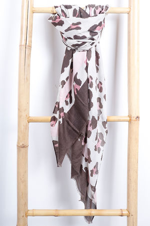 Animal and Stripe Scarf